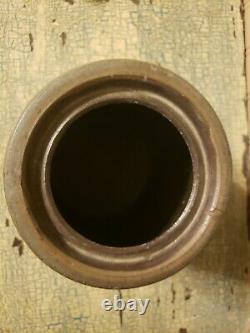Palatine Wv Striper Wax Sealer Crock Primitive Small Size Salt Glaze Stoneware