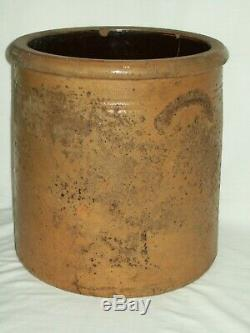 Primitive 1800's #4 Bee Sting Stoneware Crock / Early 4 Gallon Antique Red Wing
