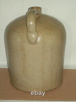 Primitive #3 Bee Sting Stoneware Crock Jug Early Antique Red Wing Salt Glaze