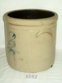 Primitive 3 Gallon Bee Sting Stoneware Crock Early Antique Red Wing Salt Glaze