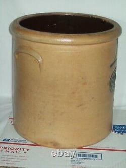Primitive #4 Bee Sting Stoneware Crock Early Antique Red Wing Salt Glaze Crock