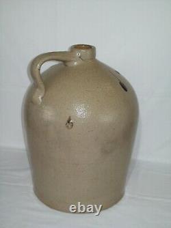 Primitive #4 Bee Sting Stoneware Crock Jug Early Antique Red Wing Salt Glaze