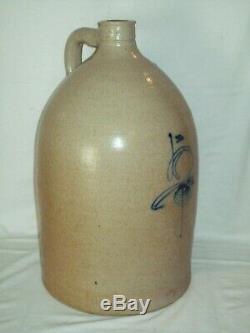 Primitive 5 Gallon Bee Sting Jug Salt Glazed Red Wing Stoneware Crock Jug