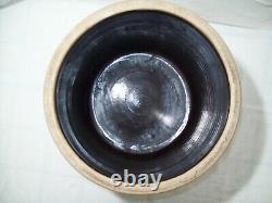 Primitive #6 Bee Sting Stoneware Crock Early Antique Red Wing Salt Glaze