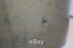 RARE 2 Gallon Decorated Stoneware Crock Churn Salt Glazed Estate find Unusual