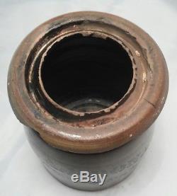 RARE ANTIQUE A. P. DONAGHHO PARKERSBURG West Virginia Stoneware Jar Crock 5 1/2