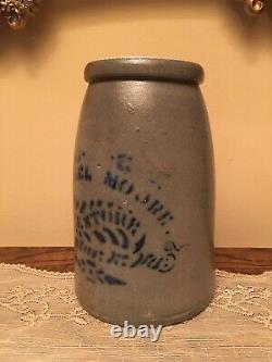 RARE Antique Proctor, W. Va. West Virginia WV Michael Moore Stoneware Crock Jar