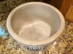 RARE Antique Red Wing Redwing 20# Stoneware Butter Crock Large Wing Hard to Find