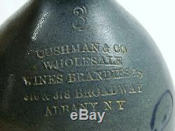 RARE Cushman & Co, Wine & Brandy, Albany, NY 3 Gallon Stoneware Jug w Cork