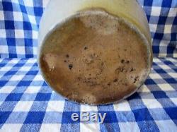 RARE Inverted Maker's Mark Cowden & Wilcox Harrisburg PA. Stoneware Crock Cobalt