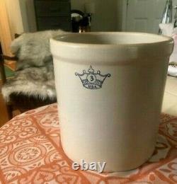 RARE Robinson Vintage Blue Crown 3USA Stoneware Crock, excellent NoVA/DC area
