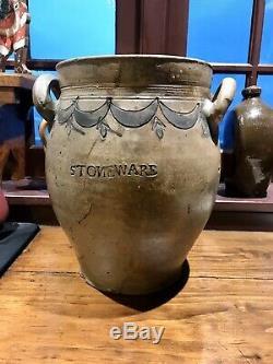 RARE STONEWARE OVOID JAR by THOMAS COMMERAW
