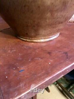 RARE THOMAS COMMERAW OVOID STONEWARE 2 GALLON DECORATED and MARKED JUG