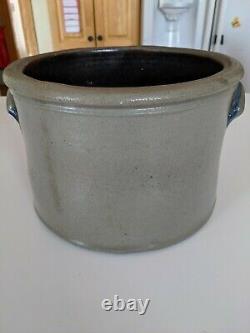 RARE TJ McCoy Sistersville West Virginia W. Va. 2 Gallon Stoneware Crock