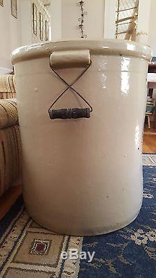 Rare Vintage 20 Gallon Crock Western Stoneware Company Monmouth, Ill. USA