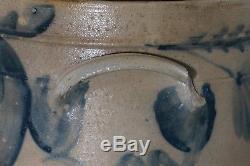 RCR (REMMEY) Phila. Blue Decorated Stoneware 2 Gal. CROCK 10 Lug Handles