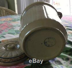 RED WING STONEWARE SPONGEBAND 5lb BAILED BUTTER CROCK ANTIQUE