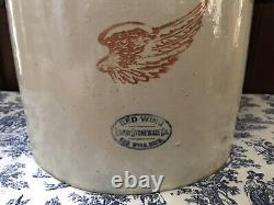 RED WING UNION STONEWARE 5 GALLON CROCK With Handles