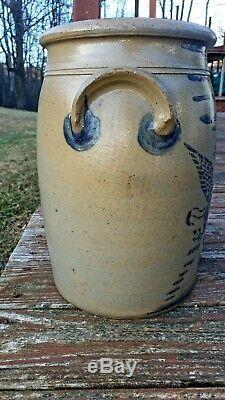 R. T. Williams 5 gallon eagle stoneware crock