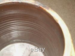 Rare! 4 Gallon Ripley Illinois IL Salt Glaze Cobalt Decorated Crock