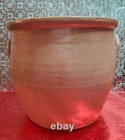 Rare Antique 1860 RIEDINGER & CAIRE POUGHKEEPSIE, NY 3 Gallon Stoneware Crock
