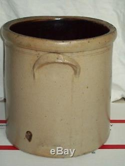 Rare Antique #4 Bee Sting Stoneware Crock Salt Glazed Pottery Red Wing