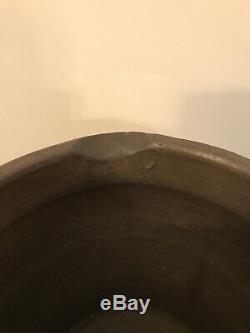 Rare Antique Cobalt Blue Stoneware Buttermilk Crock With Spout