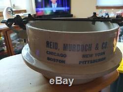 Rare Antique Red Wing Stoneware Advertising Pickle Crock Reid, Murdoch & Co. G4