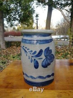 Rare Antique Southwest Pennsylvania Stoneware Crock