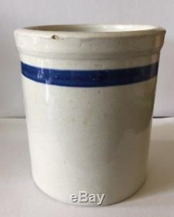 Rare Antique Stoneware Wescott, Gibbons & Bragg Crock Beater Jar Comstock, Nebr