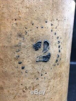 Rare Antique Vintage 2 Gallon Stoneware Crock Contiguous 48 United States or PU