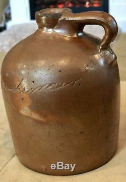 Rare Austin Texas Stoneware Scratch Jug H Oppenheimer