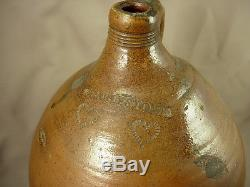 Rare Early Massachusetts Stoneware Jug c. 1812