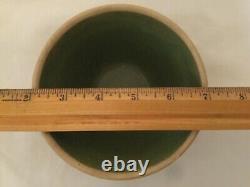Rare Green Hearts & Triangles 5 Stoneware Crock Bowl USA