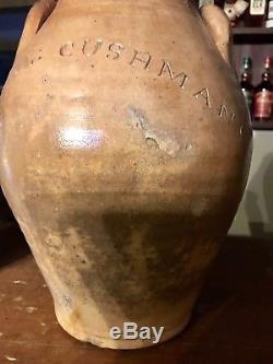 Rare Paul Cushman Stoneware Ovoid Crock
