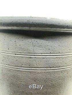 Rare Whites Utica 3 Gallon Stoneware Crock Blue Bird Glaze