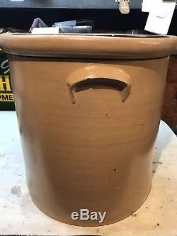 Red Wing Minnesota Stoneware Co. Stamped Rare 10gl Salt Glaze Crock 1880-1906