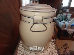 Red Wing Union Stoneware 5 gallon ice water cooler with advertising is very rare