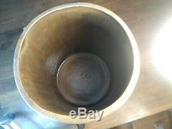 Red Wing Union Stoneware 6 Gallon Crock Salt glaze Minnesota Leaf primative