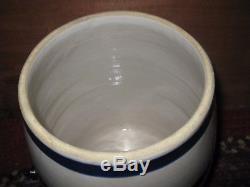 Robinson Ransbottom Crown 2 Blue Stripe Stoneware Water Cooler Spigot Lid