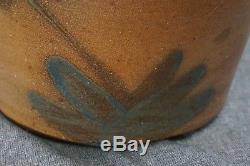 SCHENFELDER Blue Decorated Stoneware CROCK / CREAM POT 8