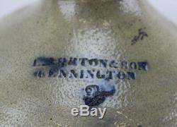 STONEWARE JUG CROCK Cobalt I Norton & Dons Bennington #3 Salt Glazed Antique
