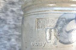 S. Bell & Son Crock Primitive Cobalt Decorated Stoneware Strasburg VA Virginia