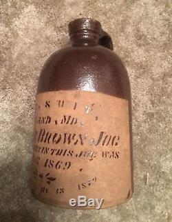 S. T. Suit, Suitland, Maryland Tanware Merchant Jug Stoneware dated 1879