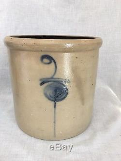 Salt Glaze 2 Gallon Target Red Wing Minnesota Stoneware Bottom Marked Stoneware