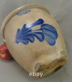 Small Pennsylvania semiOvoid Stoneware Crock c. 1870