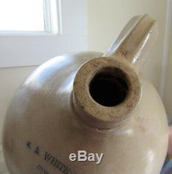 Stoneware 3 Gallon Jug Nicholas White New York 1865 1886