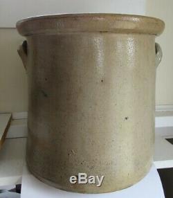Stoneware 4 Gallon Crock Cobalt Double Floral C 1880