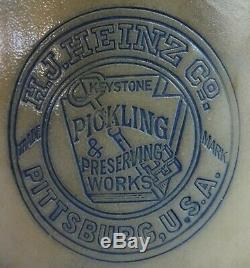Stoneware Advertising Crock Cobalt Decorated H. J. Heinz Pickling Pittsburg