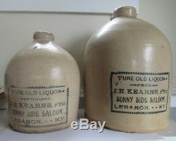 Stoneware Advertising Saloon Jug C 1890 Kentucky Smaller Jug only